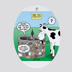 Timmys Cow Ornament (Oval)