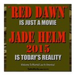 "Jadehelm 3""X3"" Square Car Magnet 3"""