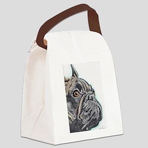 French Bulldog Brindle Canvas Lunch Bag