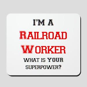 railroad worker Mousepad