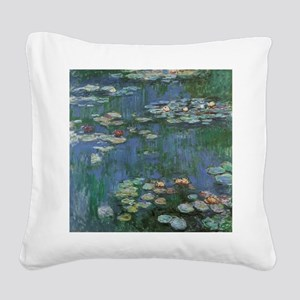 Waterlilies by Claude Monet Square Canvas Pillow