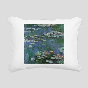 Waterlilies by Claude Mo Rectangular Canvas Pillow