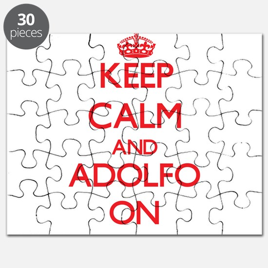 Keep Calm and Adolfo ON Puzzle