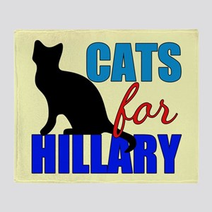 Cats for Hillary Throw Blanket