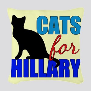 Cats for Hillary Woven Throw Pillow