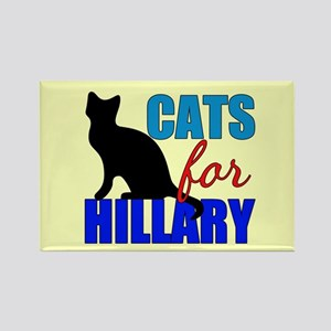 Cats for Hillary Rectangle Magnet