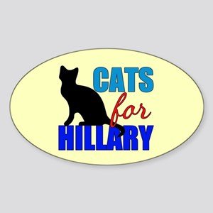 Cats for Hillary Sticker (Oval)