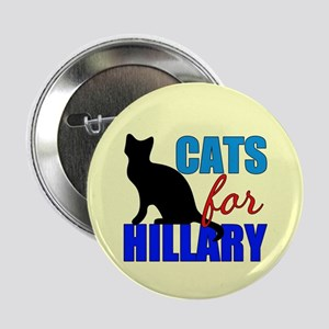 "Cats for Hillary 2.25"" Button"