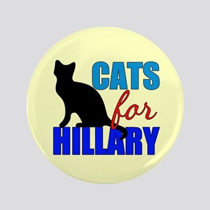 Cats for Hillary Button