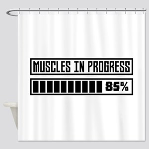 Muscles in progress Workout C8gnr Shower Curtain