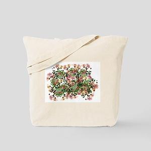 Honeysuckle Flowers Floral Garden Tote Bag