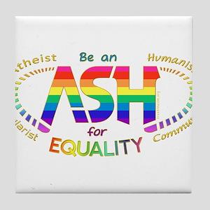 Be an ASH (oval) Tile Coaster