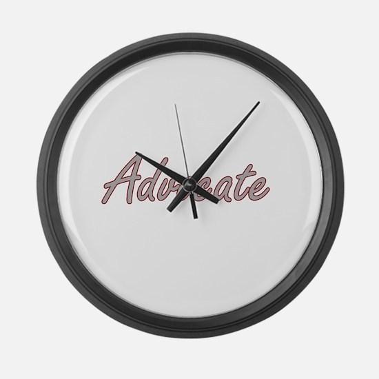 Advocate Artistic Job Design Large Wall Clock
