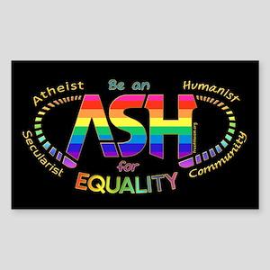 Be an ASH (oval) Sticker