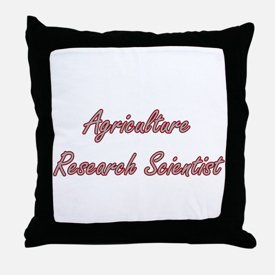 Agriculture Research Scientist Artist Throw Pillow
