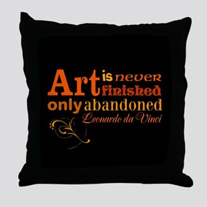 Unfinished Art Throw Pillow