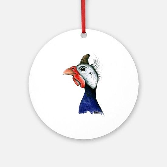Guinea Head Ornament (round)