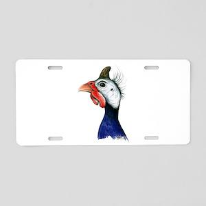 Guinea Head Aluminum License Plate