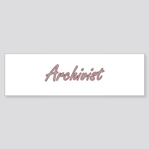 Archivist Artistic Job Design Bumper Sticker
