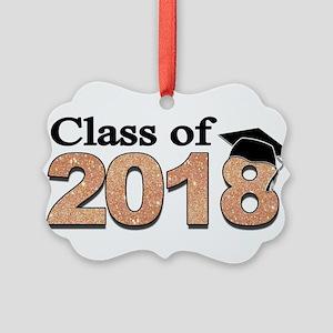 Class of 2018 Glitter Ornament
