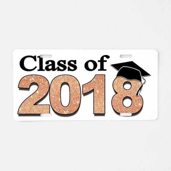Class of 2018 Glitter Aluminum License Plate