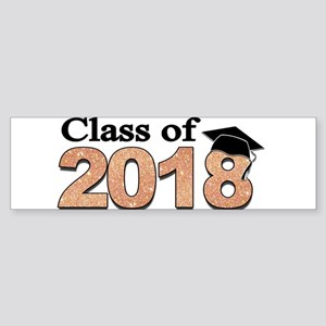 Class of 2018 Glitter Bumper Sticker