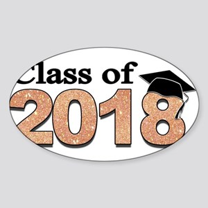 Class of 2018 Glitter Sticker