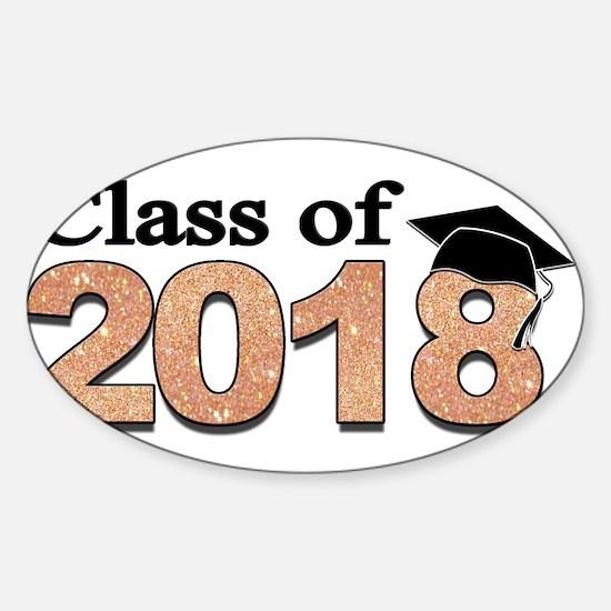 Class of 2018 Glitter Decal