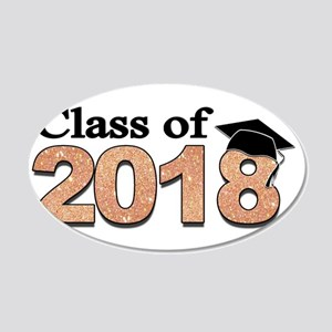 Class of 2018 Glitter Wall Decal