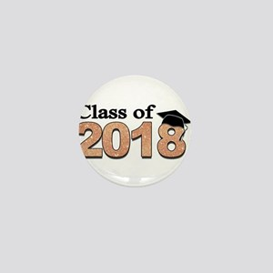 Class of 2018 Glitter Mini Button