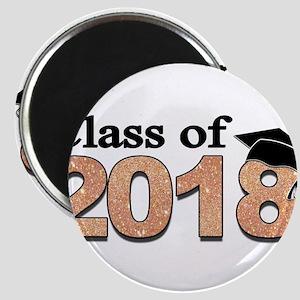 Class of 2018 Glitter Magnets