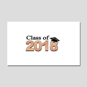 Class of 2018 Glitter Car Magnet 20 x 12