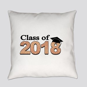 Class of 2018 Glitter Everyday Pillow