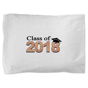 Class of 2018 Glitter Pillow Sham