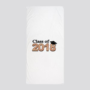 Class of 2018 Glitter Beach Towel