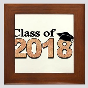 Class of 2018 Glitter Framed Tile