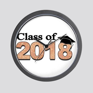 Class of 2018 Glitter Wall Clock