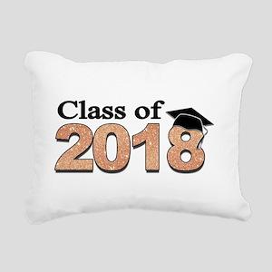 Class of 2018 Glitter Rectangular Canvas Pillow