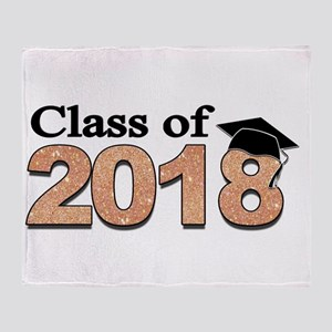 Class of 2018 Glitter Throw Blanket