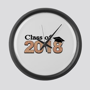 Class of 2018 Glitter Large Wall Clock