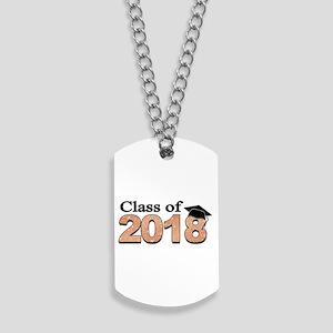 Class of 2018 Glitter Dog Tags