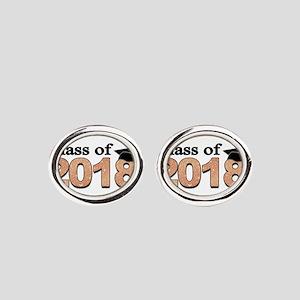 Class of 2018 Glitter Oval Cufflinks