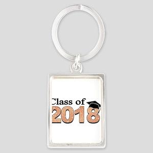Class of 2018 Glitter Keychains