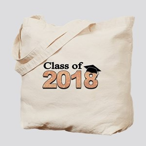 Class of 2018 Glitter Tote Bag