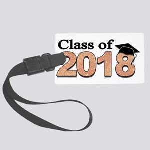 Class of 2018 Glitter Luggage Tag