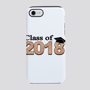 Class of 2018 Glitter iPhone 7 Tough Case