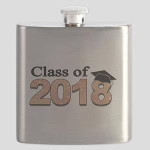 Class of 2018 Glitter Flask