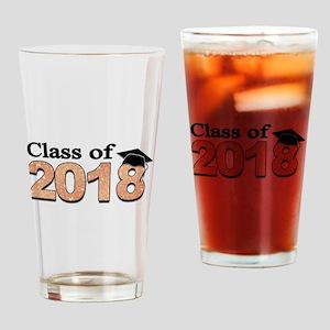 Class of 2018 Glitter Drinking Glass