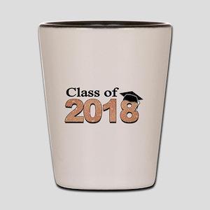 Class of 2018 Glitter Shot Glass