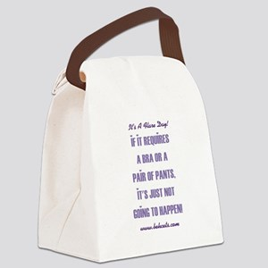 IT'S A FLARE DAY! Canvas Lunch Bag